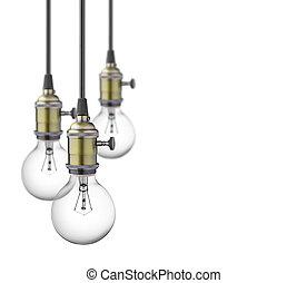 luz, bombillas,