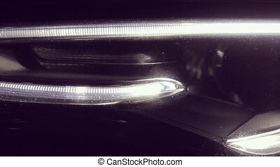Close up of Audi A5 headlamps HD 1080p