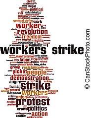 Workers' strike word cloud
