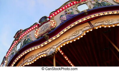 Rotating Carousel at the Fair - Having fun at the carousel...