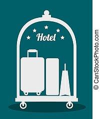 Hotel design, vector illustration - Hotel design over blue...