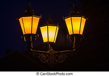 Candelabra, Street Light - Candelabra, street lamp, three...