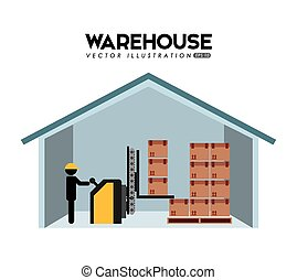 warehouse design, vector illustration eps10 graphic