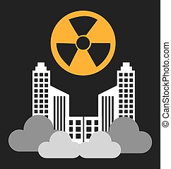 Radioactive contamination, vector illustration