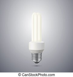 llustration of an energy saving compact fluorescent...