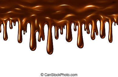 Chocolate Liquid - Chocolate liquid melting and pouring down...