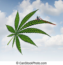 Marijuana Concept - Marijuana concept and cannabis leaf...