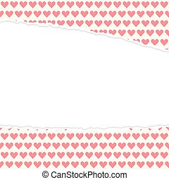 ripped open paper hearts - vector of ripped open paper...