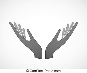 Two hands in offering pose - Illustration of two hands in...