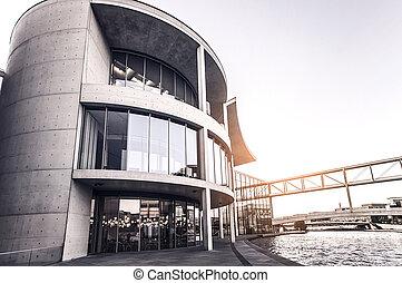concrete office building