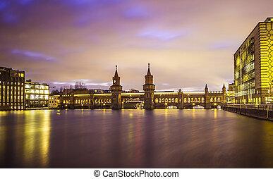 Berlin Oberbaumbruecke - Oberbaumbruecke over the river...