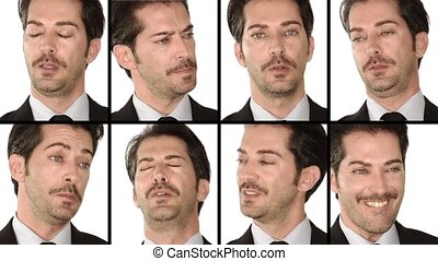 Manager: facial expressions - Businessmans facial...