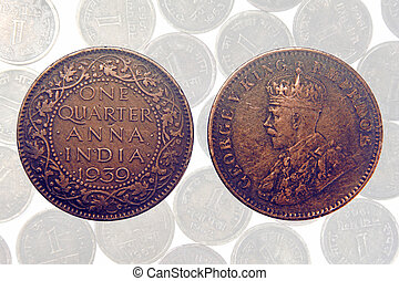 One quarter anna of 1936 george v king, Antique Indian Coin