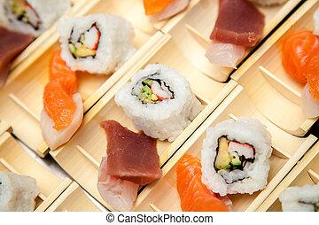 Japanese seafood for sushi - Japanese seafood ready for...