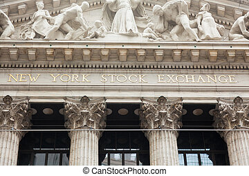 New York stock exchange building in Manhattan - USA - United...