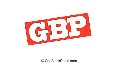 GBP - Stamp with word GBP inside, vector illustration