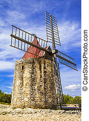 Provence, France - old windmiil in Provence