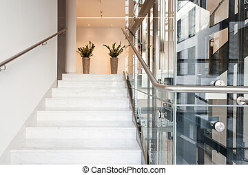 Modern building interior - Horizontal view of modern elegant...