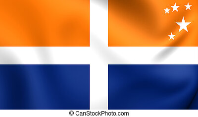 Isles of Scilly Flag. Close Up.