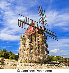 old windmiil in Provence, France