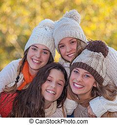 white smiles in autumn