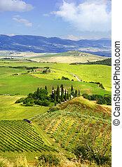 idylic  landscapes of Tuscany