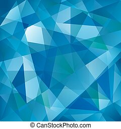 Geometric Blue Wave Pattern
