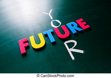Your future concept on blackboard