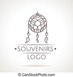 Abstract vector illustration of dreams catcher icon with text