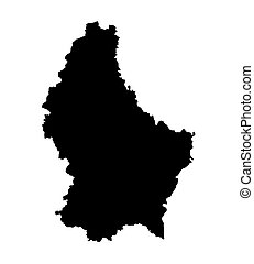 black map of Luxembourg