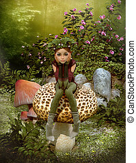 Have a Rest, 3d CG - 3d computer graphics of a fairy with a...