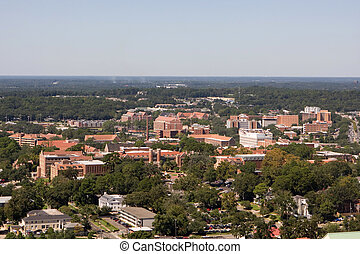 Florida State University - An aerial view of the campus of...
