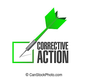 corrective action check of approval illustration design over...
