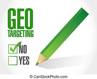 no geo targeting selection illustration design over a white...