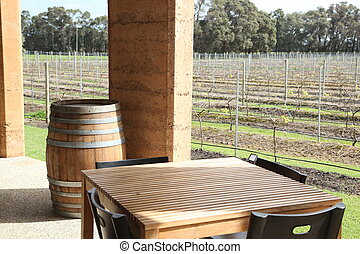Wine vineyard dining - Wine country dining, elegant...