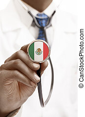 Stethoscope with national flag conceptual series - Mexico