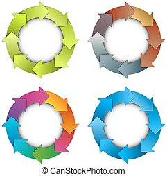 Circle arrows chart - Modern business time planning circle...