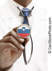 Stethoscope with national flag conceptual series - Slovenia
