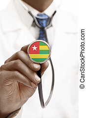 Stethoscope with national flag conceptual series - Togo