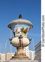 Flower vase fountain in the city of Sharjah, United Arab...