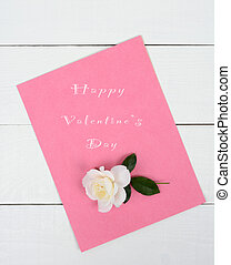 Valentine's Day Pad - Happy Valentine's Day on a pink note...