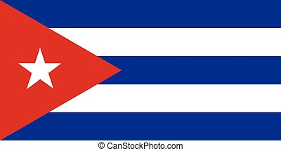 Republic of Cuba official flag - The official flag of the...