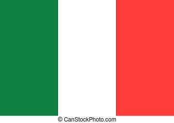 The Republic of Italy official flag - The official flag of...