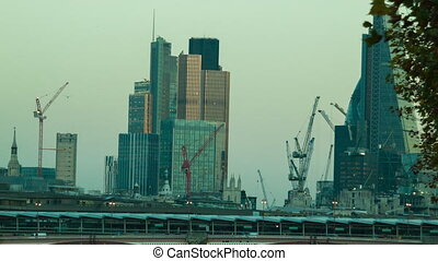 Late Afternoon, the City of London - Late Afternoon in the...