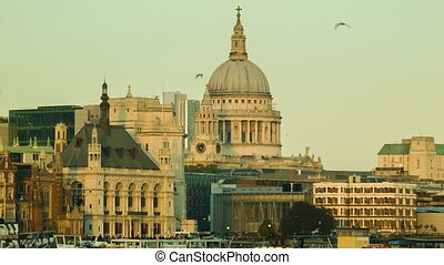London St Paul's, late afternoon - London sunset, Golden...