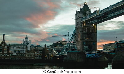 Sunset at Tower Bridge, London, golden hour