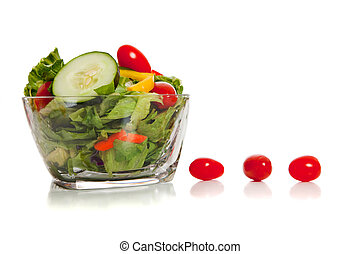 Tossed salad with various vegetables - A tossed salad with...