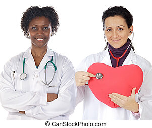 Couple of doctors girl