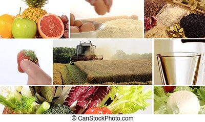 biological agriculture collage - organic farming and...