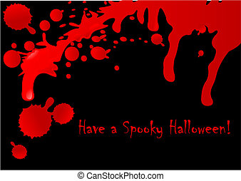 Blood Drops - Halloween background of flowing blood drops...